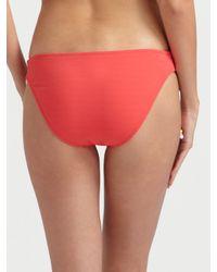 MILLY - Pink Tied Bikini Bottom - Lyst