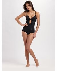 Nanette Lepore - Black Cut-out One-piece Swimsuit - Lyst