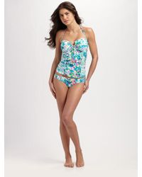 Nanette Lepore | Multicolor Ruched Tankini Top | Lyst