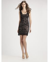 Nicole Miller | Black Stretch Lace Tank Dress | Lyst