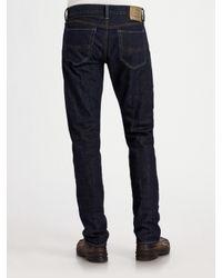 Polo Ralph Lauren - Blue Slim-fit Polo/sweden for Men - Lyst