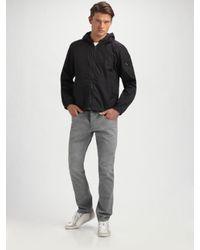 Prada | Black Nylon Logo Jacket for Men | Lyst