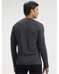 Prada   Blue Nylon Puffer Jacket for Men   Lyst