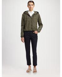 Prada | Green Nylon Hooded Jacket | Lyst