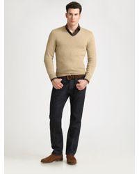 Ralph Lauren Black Label | Natural Cashmere V-neck Sweater for Men | Lyst