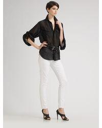 Ralph Lauren Black Label | White Skinny Stretch Denim 400 Jeans | Lyst
