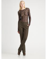 Ralph Lauren Collection | Black Wool & Cashmere Tweed Pants | Lyst