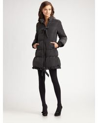 RED Valentino | Black Long Down Jacket | Lyst