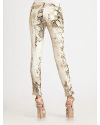 Roberto Cavalli - White Python Skinny Jeans - Lyst