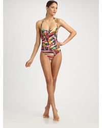 Rosa Cha | Multicolor Patchwork One-piece Swimsuit | Lyst