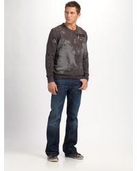 Royal Underground | Gray Tinted V-neck Sweater for Men | Lyst