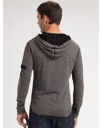 Royal Underground - Gray Zip Henley Shirt for Men - Lyst