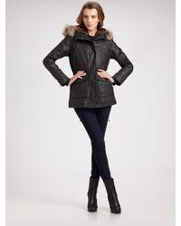Sam. | Black Fur-trimmed Hooded Parka with Removable Fur Vest | Lyst