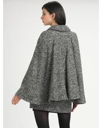 See By Chloé   Gray Cape Coat   Lyst