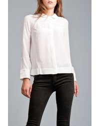 See By Chloé | White L/s Emb Peter Pan Collar Blouse | Lyst