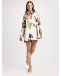 Stella McCartney Multicolor Forsythia Botanical Cotton Coat