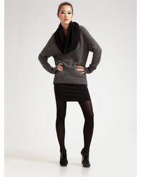 T By Alexander Wang | Black Ponte Exposed Zip Skirt | Lyst