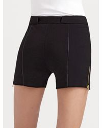 T By Alexander Wang | Black High-waisted Ponte Shorts | Lyst