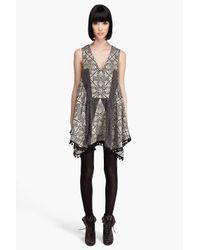 Thakoon | Black Patchwork Pom Pom Dress | Lyst