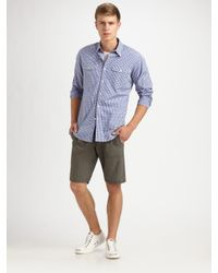 Theory - Blue Reynold Camper Sportshirt for Men - Lyst