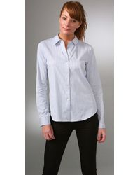 Theory | Blue Cicely Shirt | Lyst