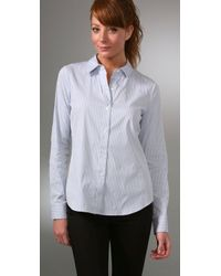 Theory - Blue Cicely Shirt - Lyst