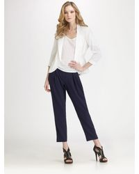 Theory | Blue Kissan Drapey Cropped Trousers | Lyst