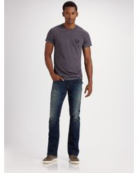 True Religion | Blue Eddie Straight-leg Jeans for Men | Lyst