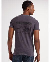 True Religion - Blue Eddie Straight-leg Jeans for Men - Lyst