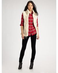 Twisted Heart | Red Faux Fur-trimmed Vest | Lyst