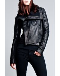 VEDA | Gray Max Leather Classic Jacket in Black | Lyst