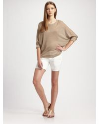 VINCE | White Rover Stretch Cotton Shorts | Lyst
