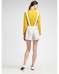 Z Spoke by Zac Posen - White Detachable Basketweave Silk Jumpsuit - Lyst