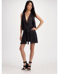 Alexander Wang   Black Cinched Blouson Dress   Lyst