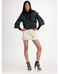 Alexander Wang | Green Folded Hoodie Jacket | Lyst