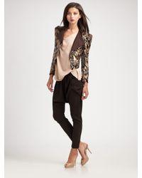 Alice + Olivia - Brown Sequin Jacket - Lyst
