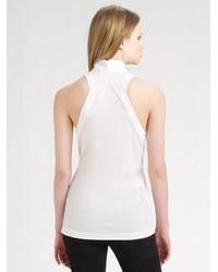BCBGMAXAZRIA | White Stretch Cotton Poplin Shirt | Lyst