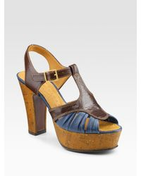 Chie Mihara | Multicolor Two-tone Platform Sandals | Lyst