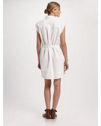 Chloé White Cotton-poplin Shirt Dress