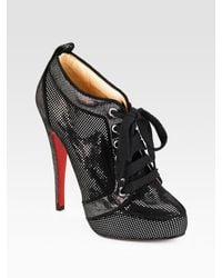 Christian Louboutin | Black Venus Orlato Suede Ankle Boots | Lyst