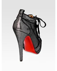Christian Louboutin - Black Venus Orlato Suede Ankle Boots - Lyst