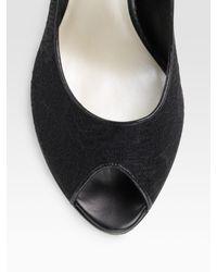Dior - Black Miss Lace Peep Toe Pumps - Lyst