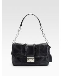 Dior | Black New Lock Small Flap Bag | Lyst