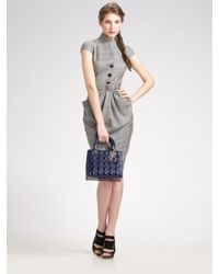 Dior | Gray Wool Dress | Lyst