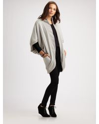 Elizabeth and James | Gray Cocoon Oversize Jersey Shrug | Lyst
