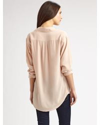 Equipment - Natural Signature Silk Shirt - Lyst