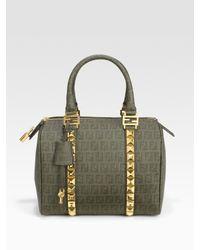 Fendi | Green Forever Boston Bag | Lyst