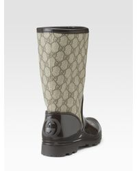 Gucci | Natural Prato Flat Rainboots | Lyst