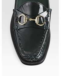 Gucci - Black Patent-leather Loafers - Lyst