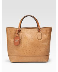 Gucci | Natural Madison Ostrich Medium Tote | Lyst